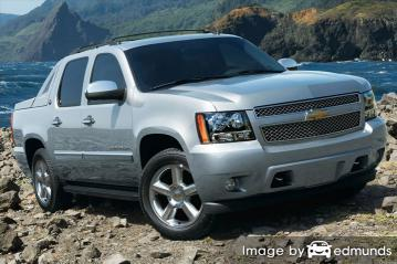 Insurance rates Chevy Avalanche in Detroit