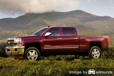 Insurance rates Chevy Silverado 2500HD in Detroit
