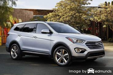 Insurance quote for Hyundai Santa Fe in Detroit