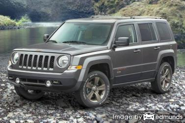 Insurance rates Jeep Patriot in Detroit