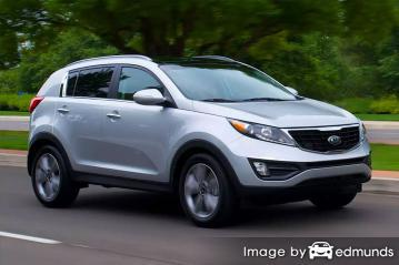 Insurance quote for Kia Sportage in Detroit