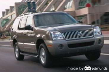Insurance rates Mercury Mountaineer in Detroit