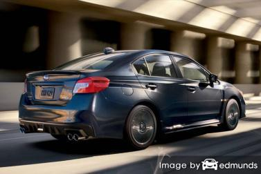 Insurance rates Subaru WRX in Detroit