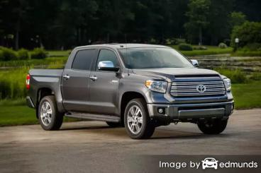Insurance rates Toyota Tundra in Detroit